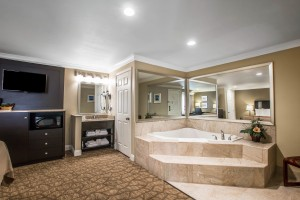 Hot Tub with Wall Mounted TV
